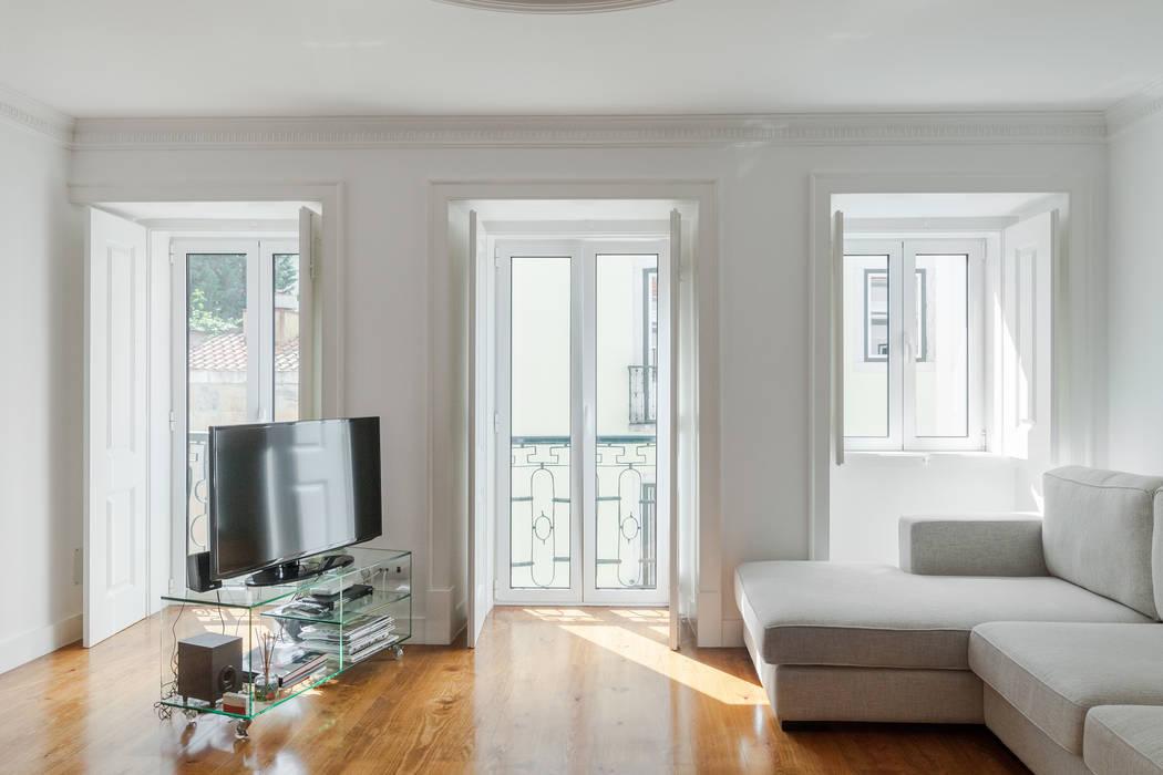 Apartamento São Caetano Salas de estar minimalistas por Vanessa Santos Silva | Arquiteta Minimalista