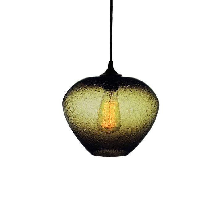 Rustica Oliva - fondo blanco: Salas de estilo  por Luminosa ™