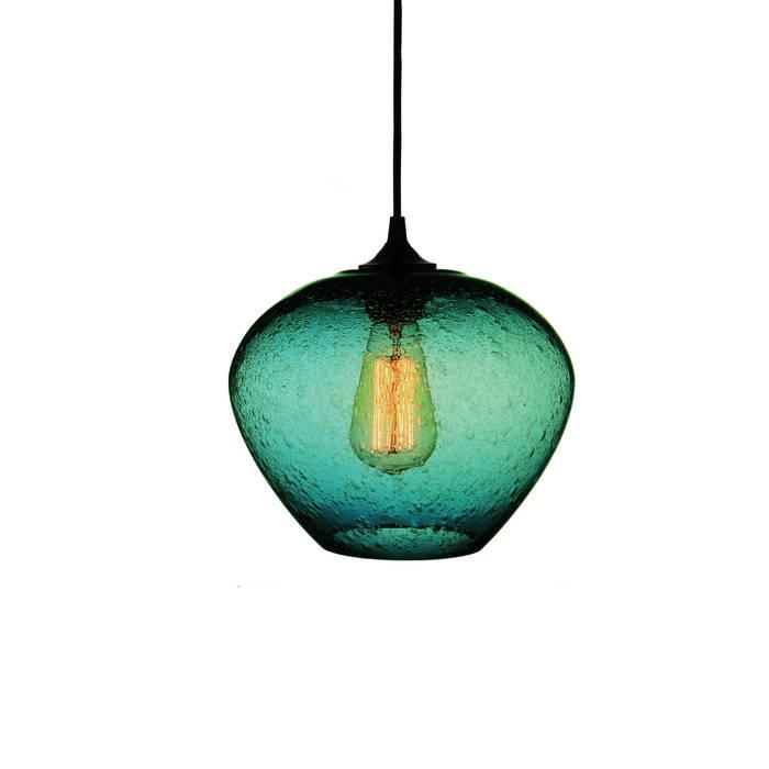 Rustica Turquesa - fondo blanco: Salas de estilo  por Luminosa ™