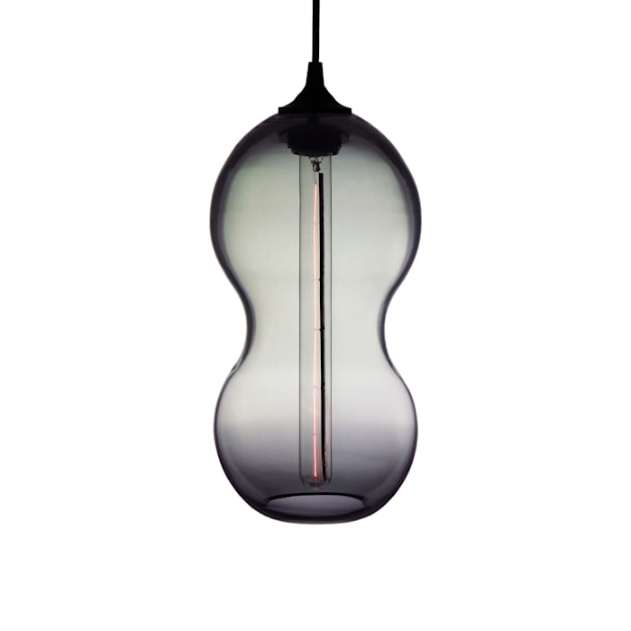 Cacahuate Gris - fondo blanco: Salas de estilo moderno por Luminosa ™
