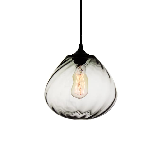 Twisters Gris - fondo blanco: Comedores de estilo moderno por Luminosa ™