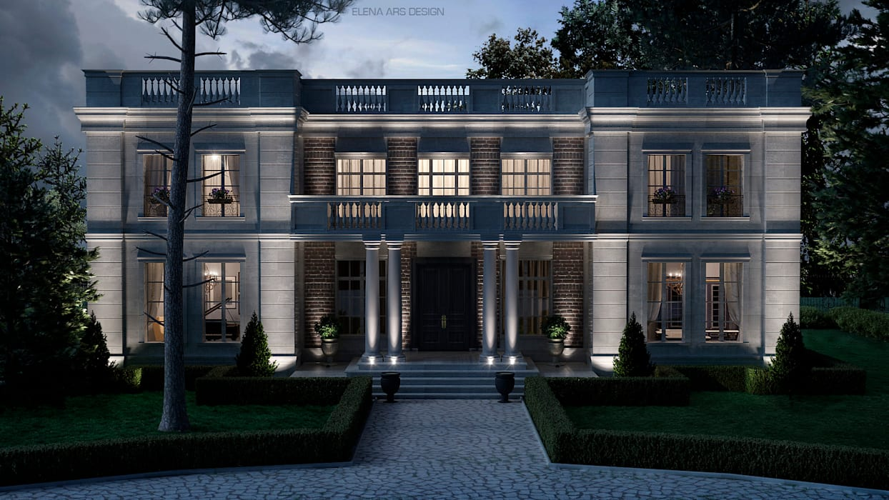 French house Дома в классическом стиле от Elena Arsentyeva Классический Известняк