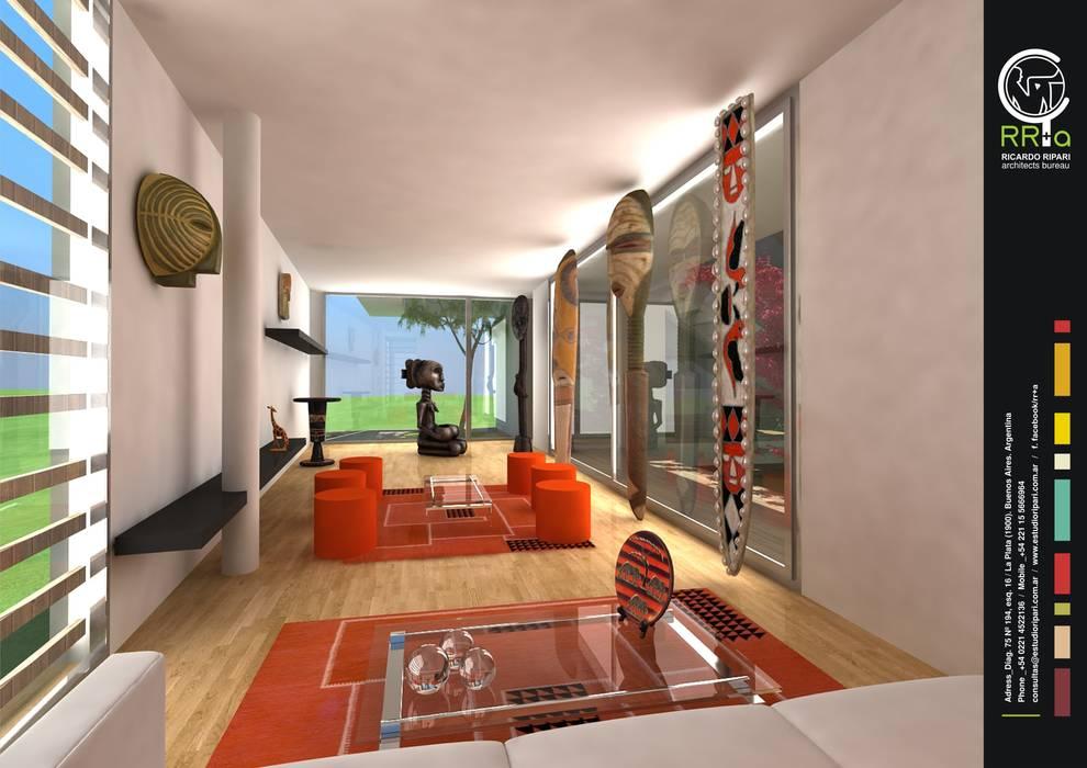 Modern Living Room by Rr+a bureau de arquitectos - La Plata Modern