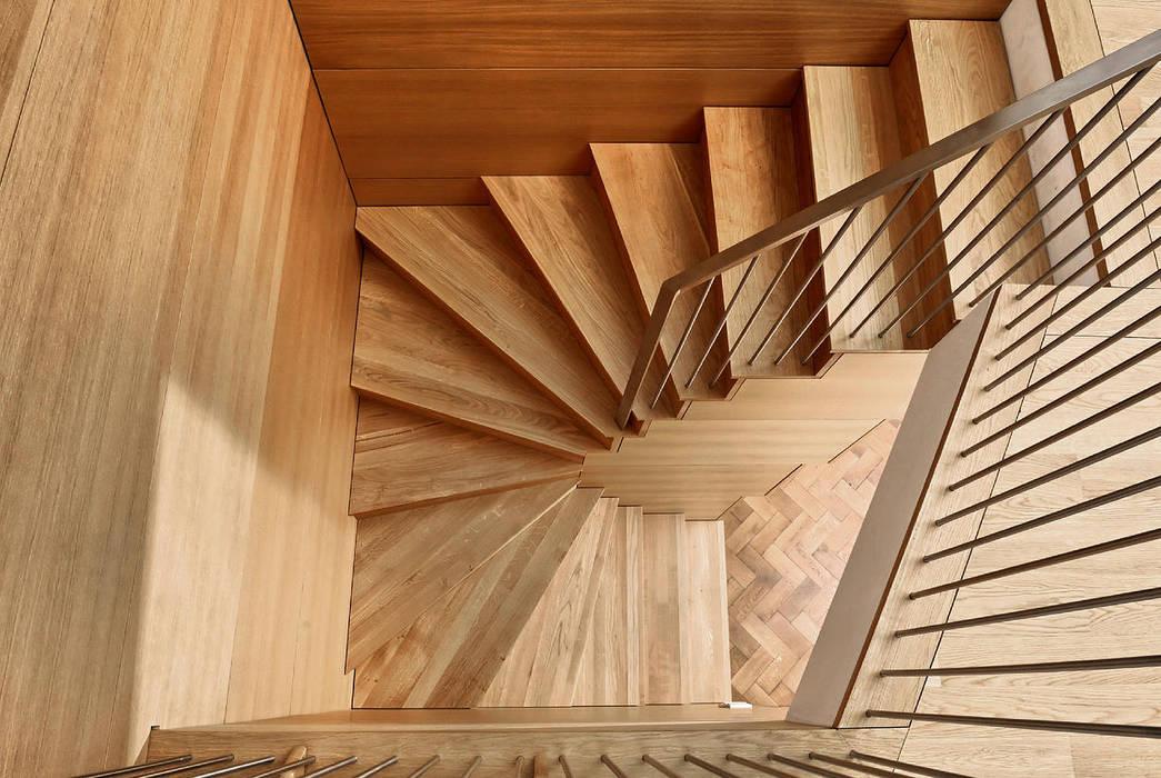 Fürst & Niedermaier, Architekten 現代風玄關、走廊與階梯 木頭