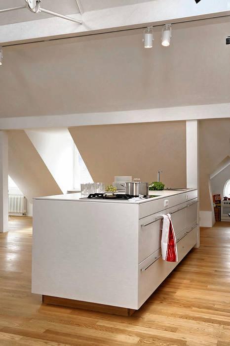Küche Fürst & Niedermaier, Architekten Moderne Küchen Holz Weiß