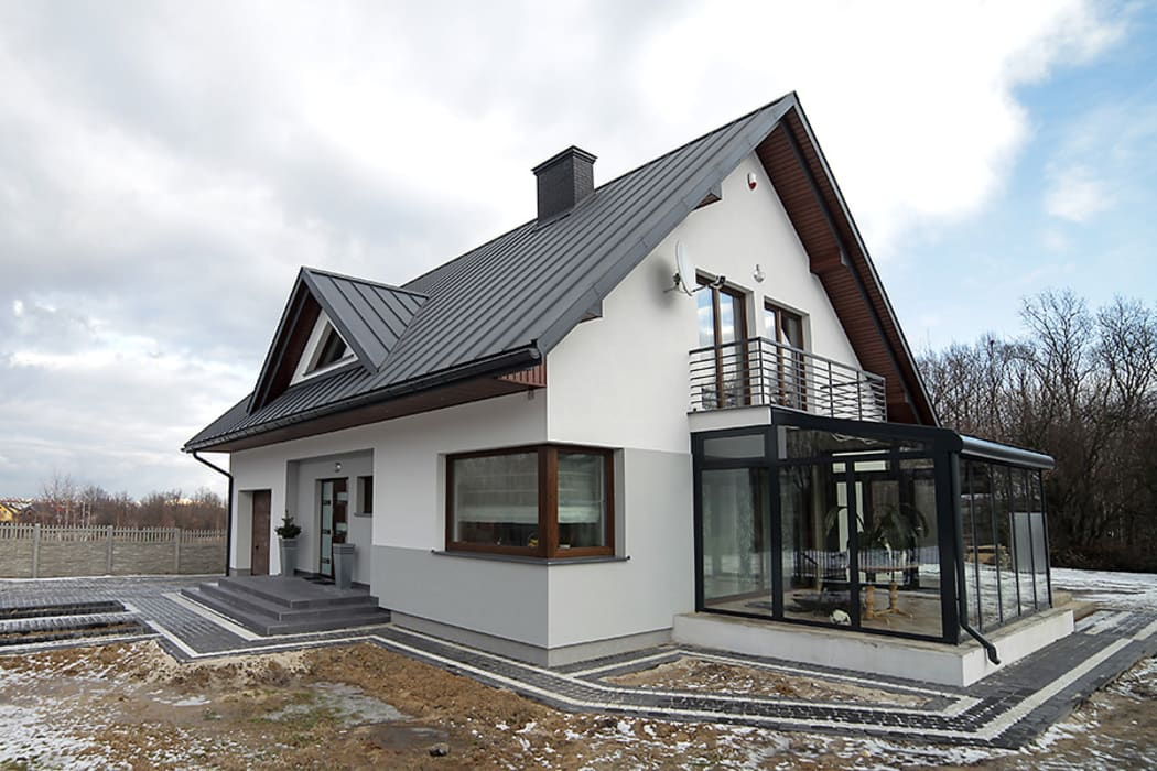 Realizacja projektu Meteor 2 Nowoczesne domy od Biuro Projektów MTM Styl - domywstylu.pl Nowoczesny