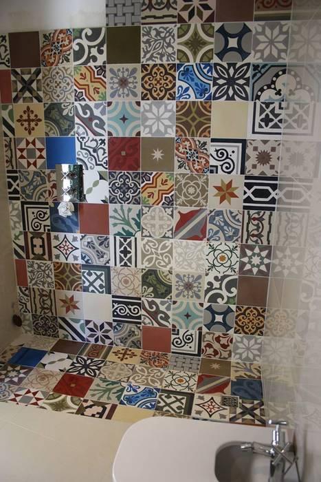 Badezimmer patchwork fliesen moderne badezimmer von homify ...