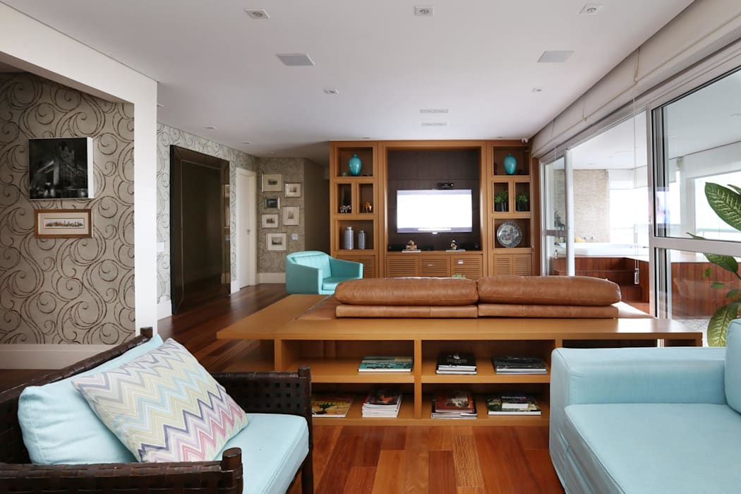 Salas / recibidores de estilo  por Danielle Tassi Arquitetura e Interiores, Moderno