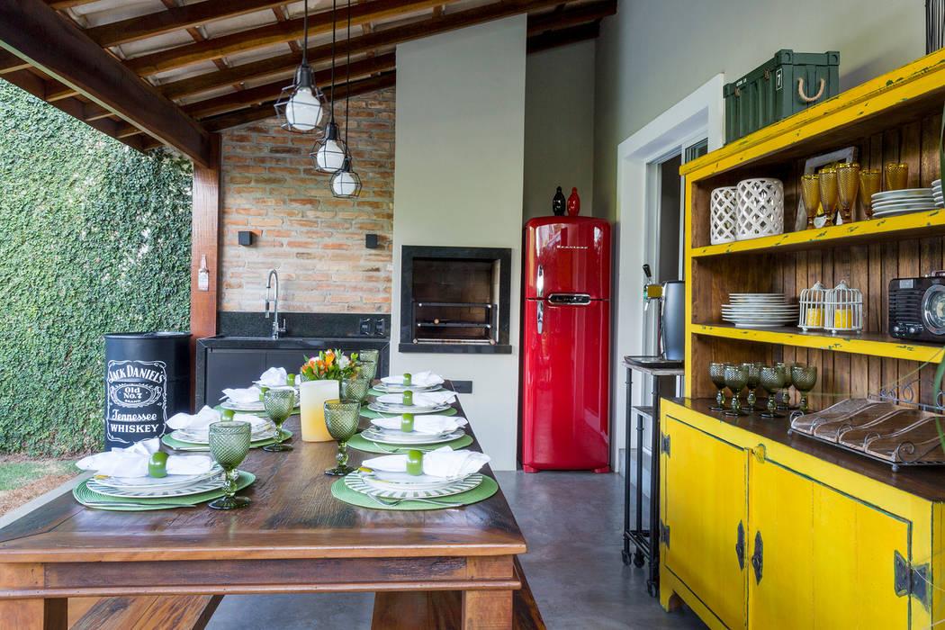 Casa Residencial SP Varandas, alpendres e terraços modernos por Danielle Tassi Arquitetura e Interiores Moderno
