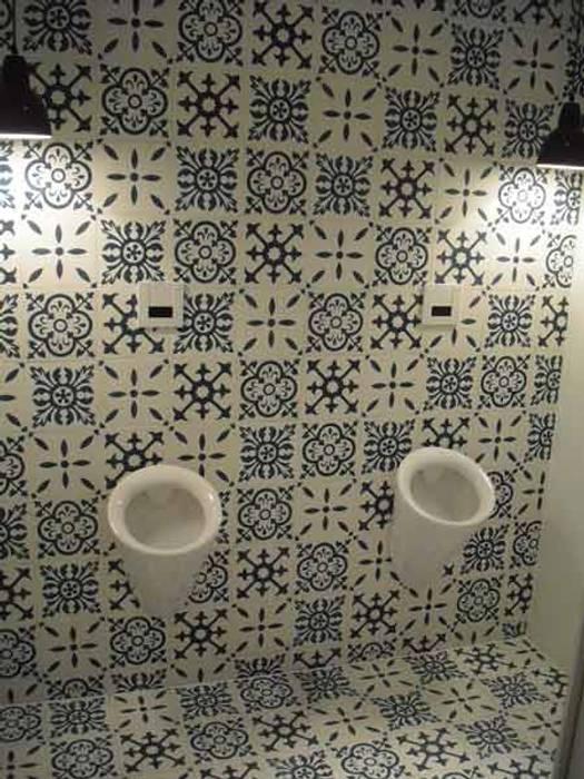 Cementtegels Patchwork zwart, wit, grijs:  Muren door Articima, Mediterraan