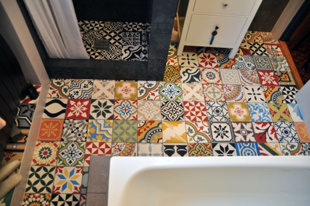 Cementtegels In Badkamer : Marokkaanse cementtegels articima patchwork: badkamer door articima