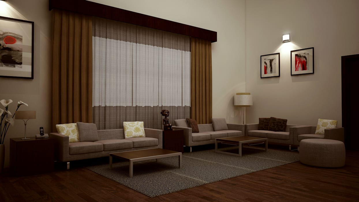 Hari C & Vanaja Residence: modern Living room by dd Architects