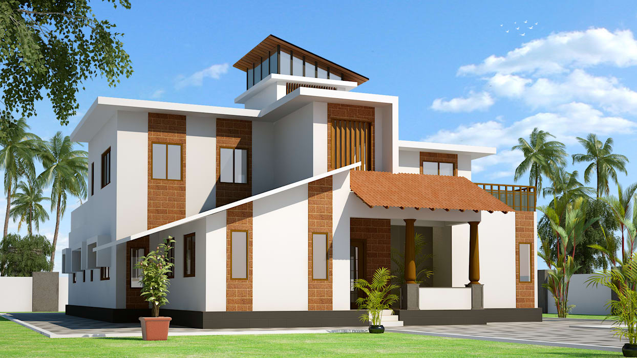 Rafiq Residence dd Architects Modern houses
