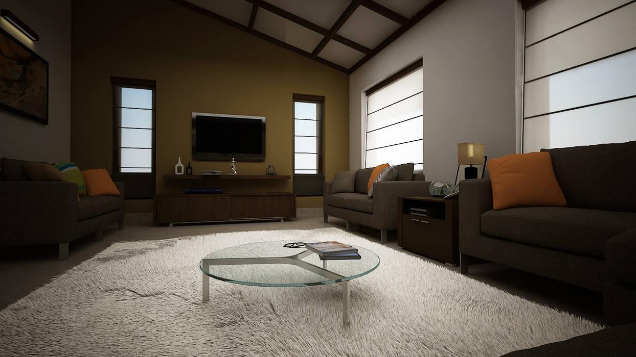 Rafiq Residence dd Architects Modern living room