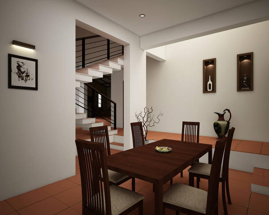 Rafiq Residence Modern dining room by dd Architects Modern