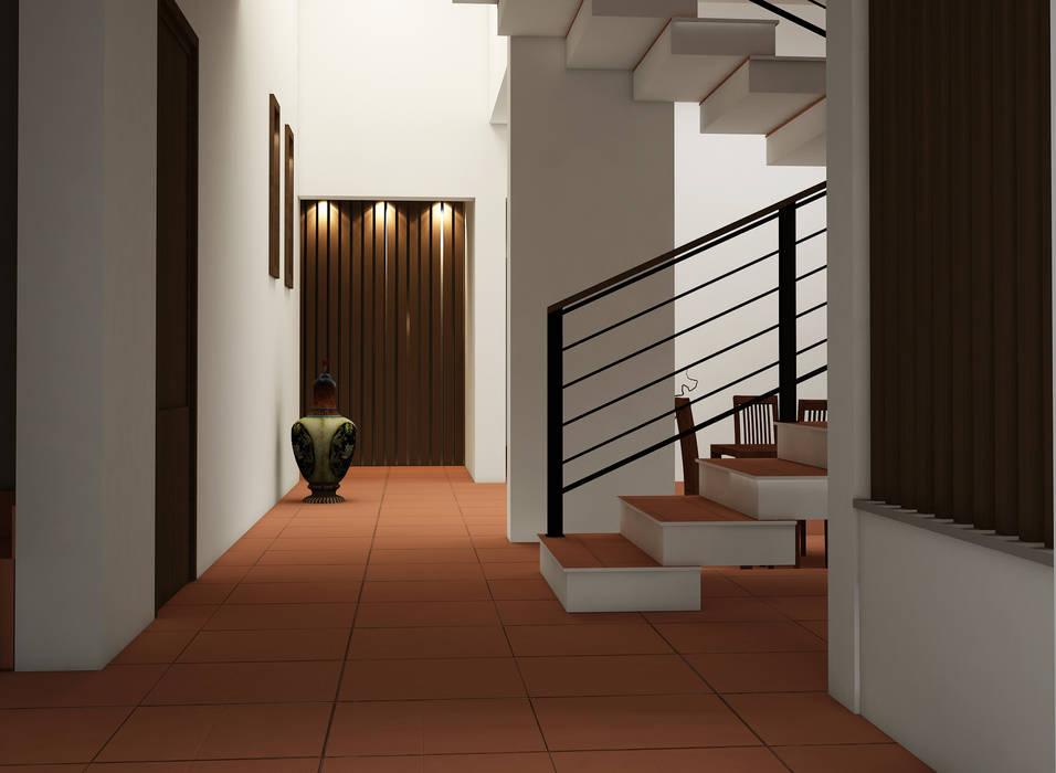 Rafiq Residence:  Corridor & hallway by dd Architects