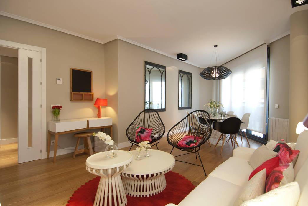 Proyecto de decoración de vivienda en Bilbao, Sube Susaeta Interiorismo - Sube Contract Salones de estilo moderno de Sube Susaeta Interiorismo Moderno