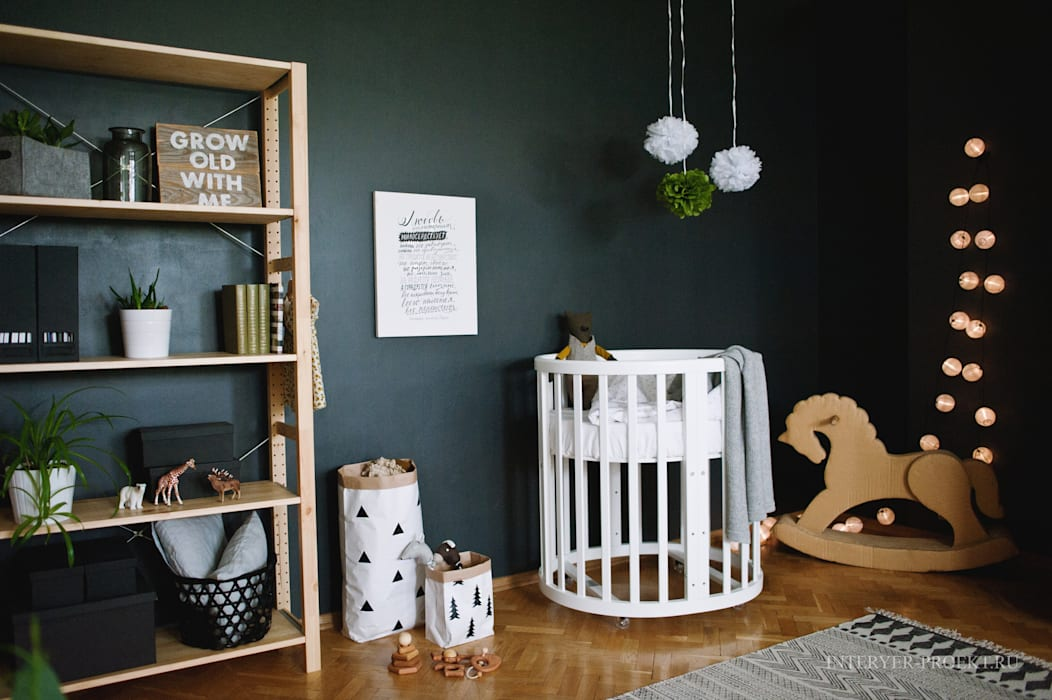 Scandinavian style nursery/kids room by ИНТЕРЬЕР-ПРОЕКТ.РУ Scandinavian