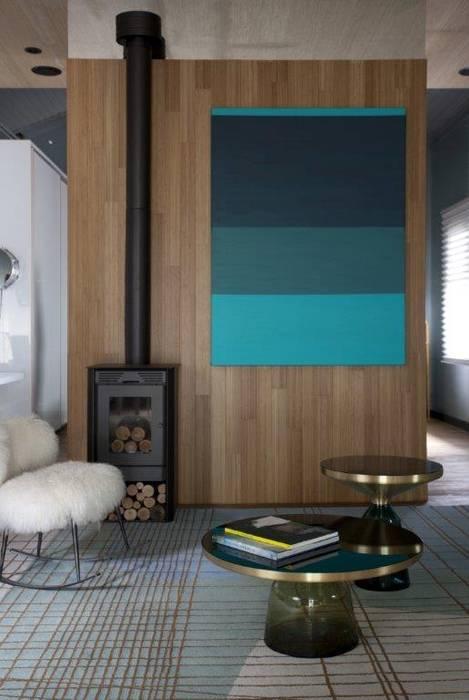 Lareira: Salas de estar  por Patricia Martinez Arquitetura