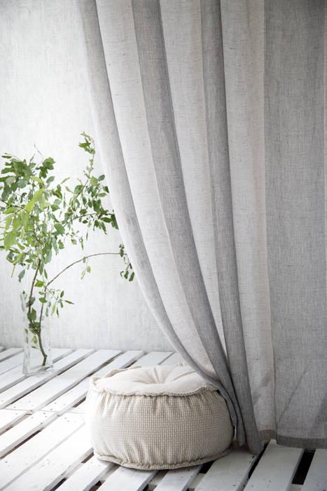 Vorhang Elina: modern  von Indes Fuggerhaus Textil GmbH,Modern Textil Bernstein/Gold