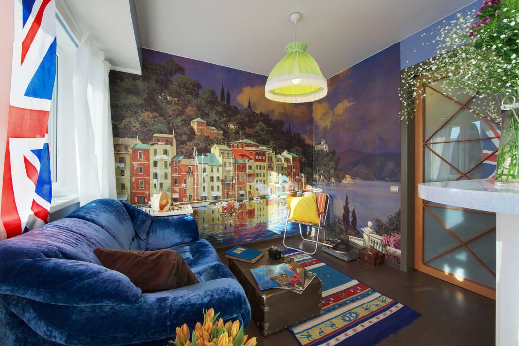 Salon rustique par Порядок вещей - дизайн-бюро Rustique