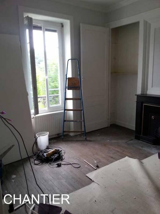 Ancienne chambre qui deviendra salle à manger/séjour: Salon de style  par Pauline VIDAL - Architecte d'Intérieur CFAI