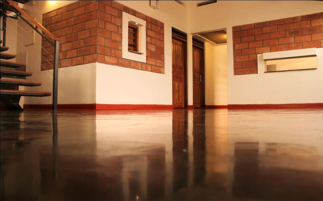 Meera & Dinesh Residence Rustic style walls & floors by dd Architects Rustic