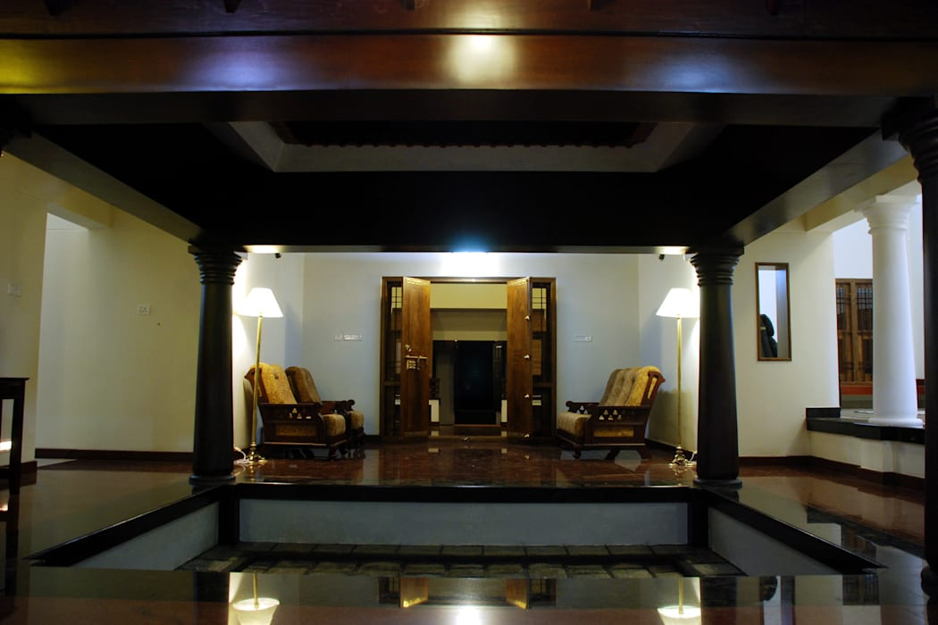 Krishnakumar Residence Classic style balcony, veranda & terrace by dd Architects Classic