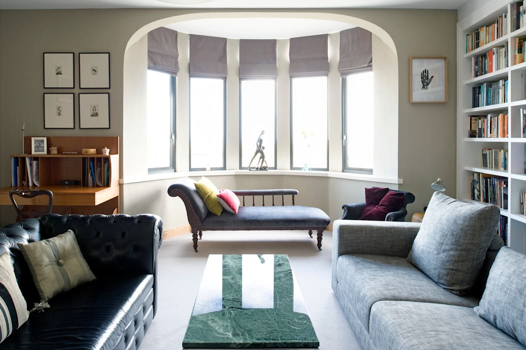 The Links, Whitley Bay xsite architecture LLP Modern living room