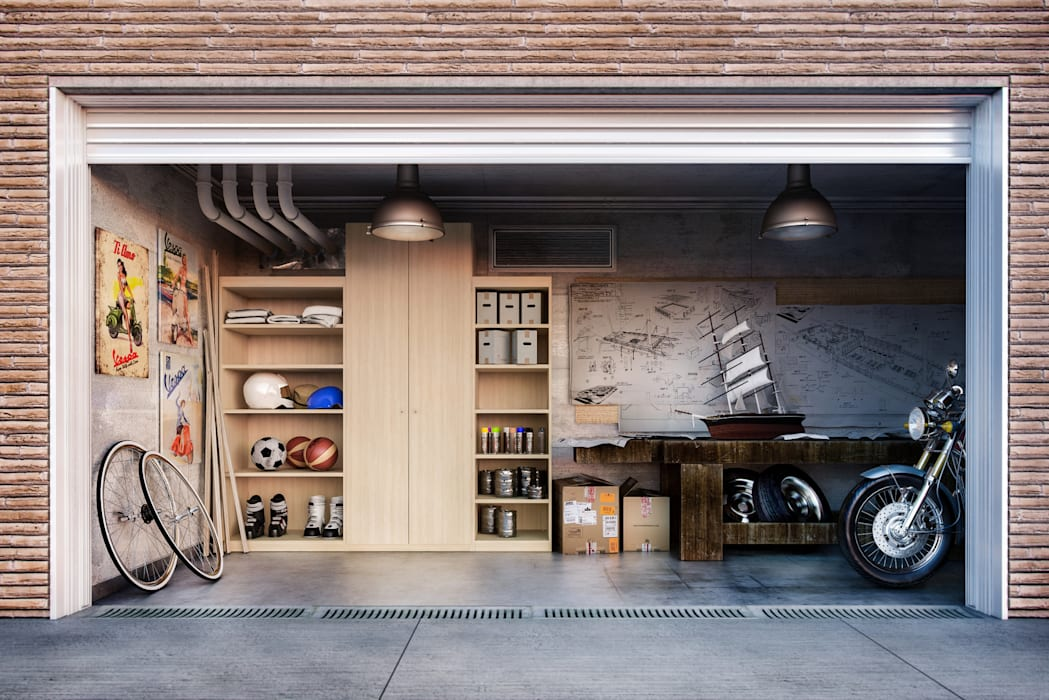 Garage Shot di de-cube Moderno