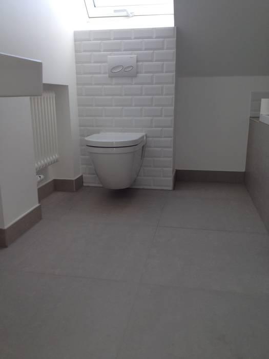 Görer Fliesen und Bau GmbH Rustic style bathroom