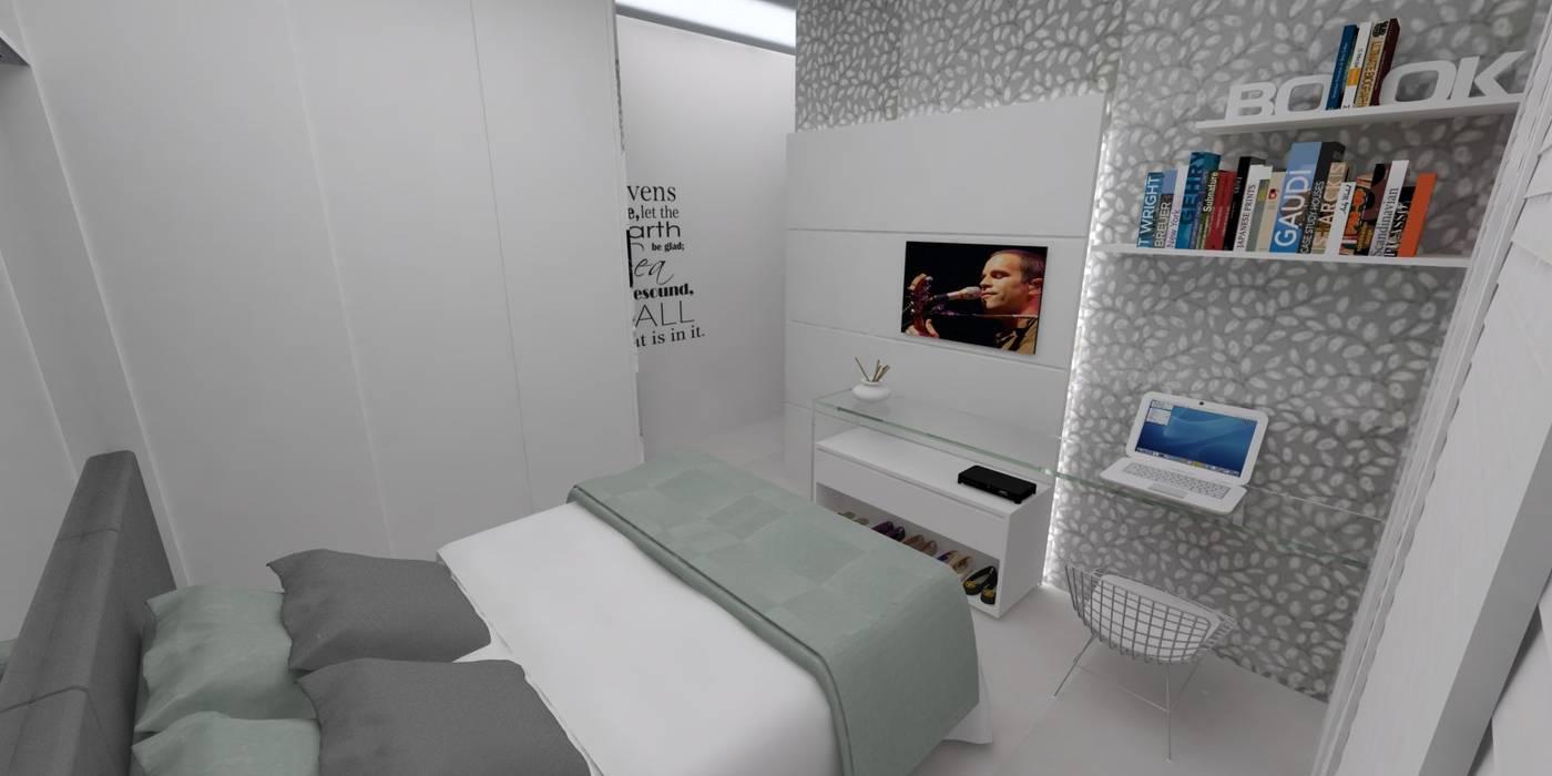 LMT Arquitetura Dormitorios de estilo moderno Vidrio Marrón