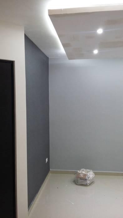Papel Tapiz: Salas de estilo minimalista por VIVAinteriores