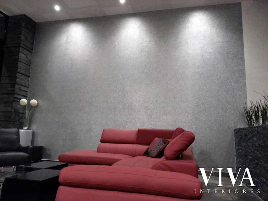 Plantilla Decorativa: Salas de estilo minimalista por VIVAinteriores