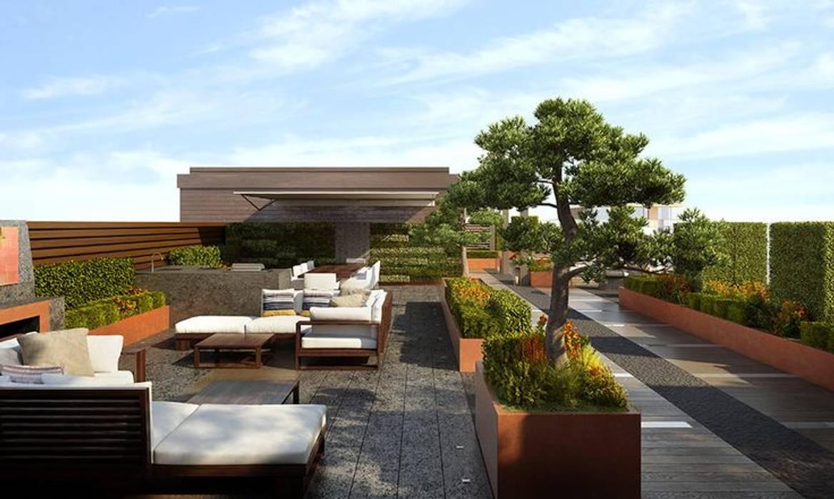 Chelsea Creek London Penthouse Roof Terrace (St George PLC):  Commercial Spaces by Aralia
