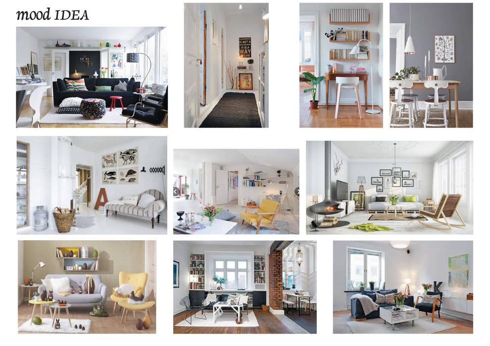 Progetti: soggiorno in stile di azzurra lorenzetto-maydaycasa   homify
