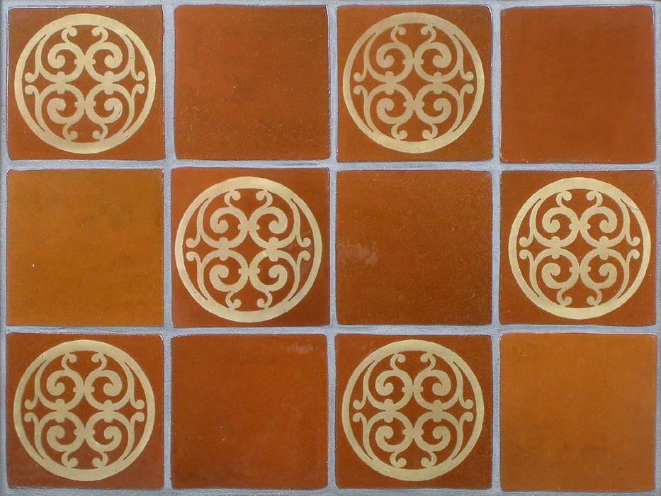 Terracotta Wall Tiles: rustic  by Deiniol Williams Ceramics, Rustic Ceramic