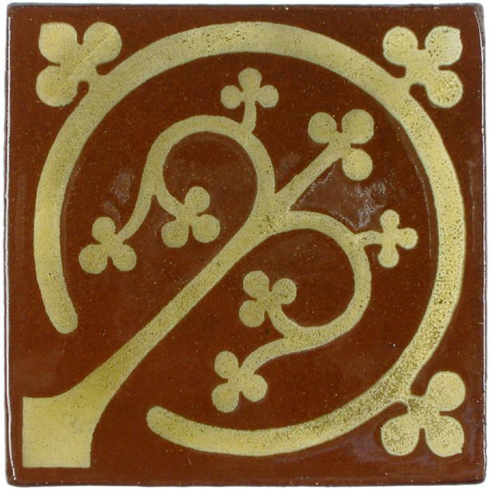 Tree of Life Pattern Tile: rustic  by Deiniol Williams Ceramics, Rustic Ceramic