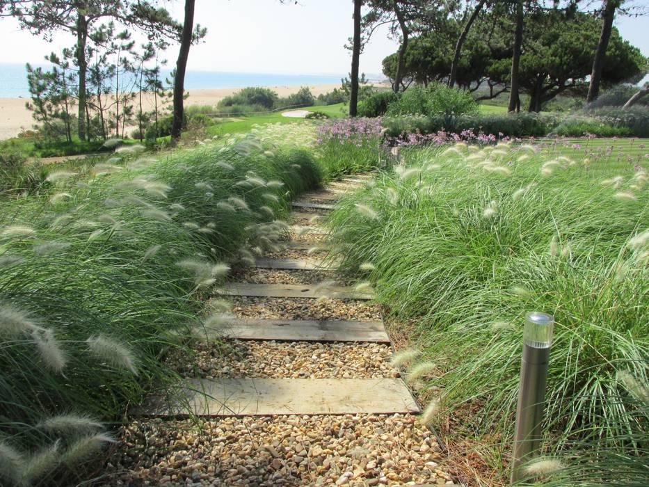 Algarve Coastal Garden Jardins tropicais por Jardim Vista Tropical