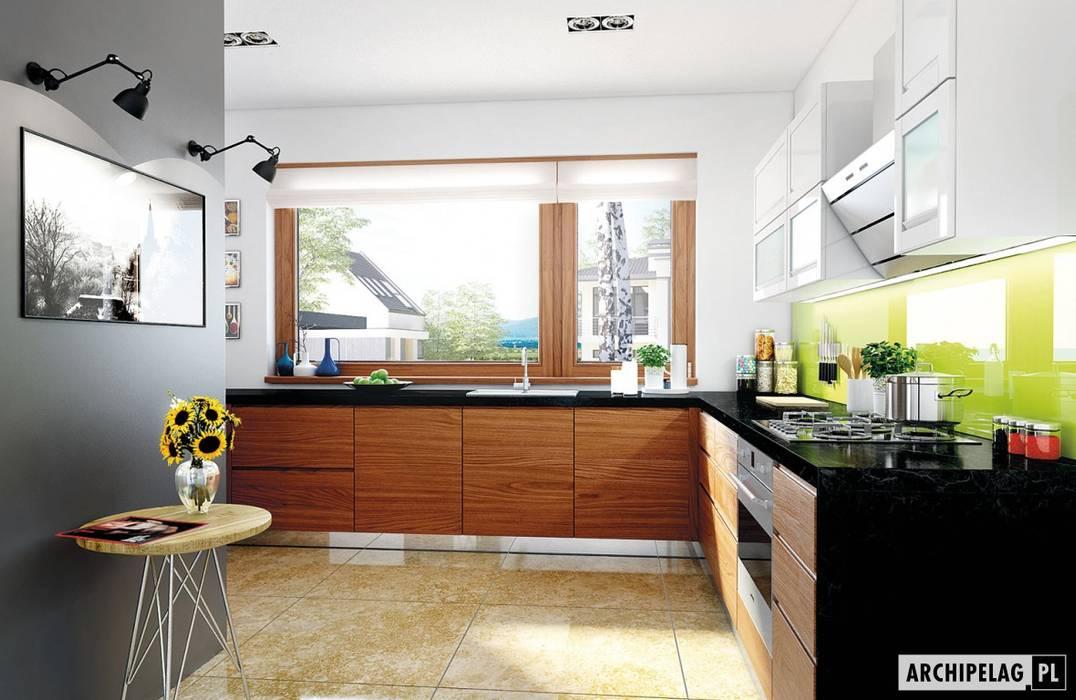 Projekt domu Liv 3 G2 | kuchnia : styl , w kategorii Kuchnia zaprojektowany przez Pracownia Projektowa ARCHIPELAG,