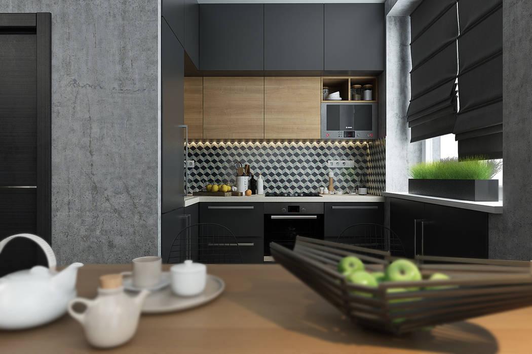 Solo Design Studio Dapur Gaya Skandinavia Wood effect