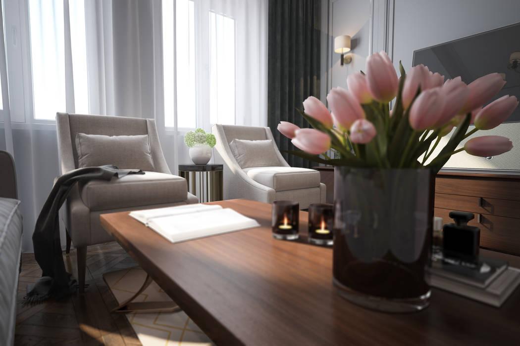 Salas / recibidores de estilo  por Solo Design Studio,