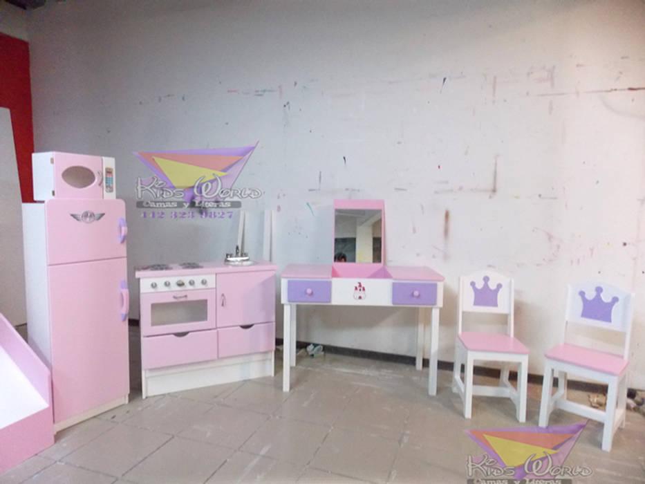 Femeninos y divertidos muebles para niñas: Recámaras infantiles de estilo  por camas y literas infantiles kids world, Moderno Madera Acabado en madera
