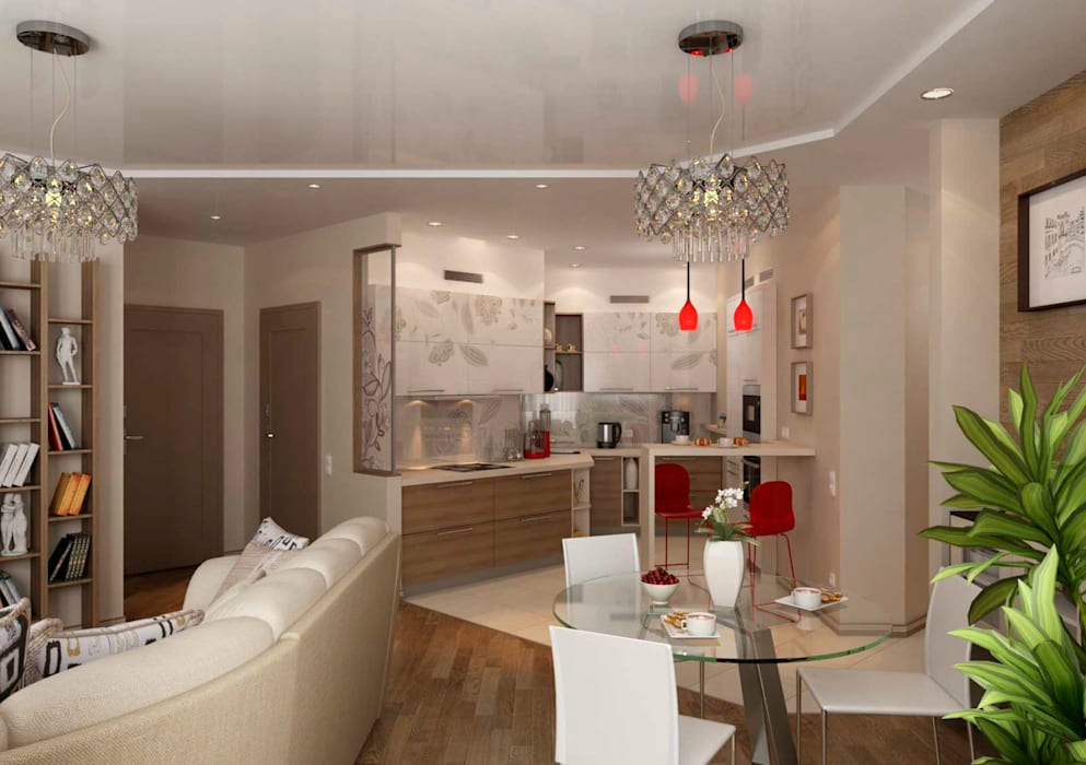 Modern Living Room by GP-ARCH Modern