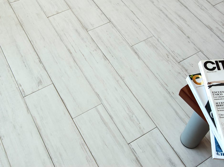 Loxley White Distressed Wood Effect Porcelain Tiles Walls