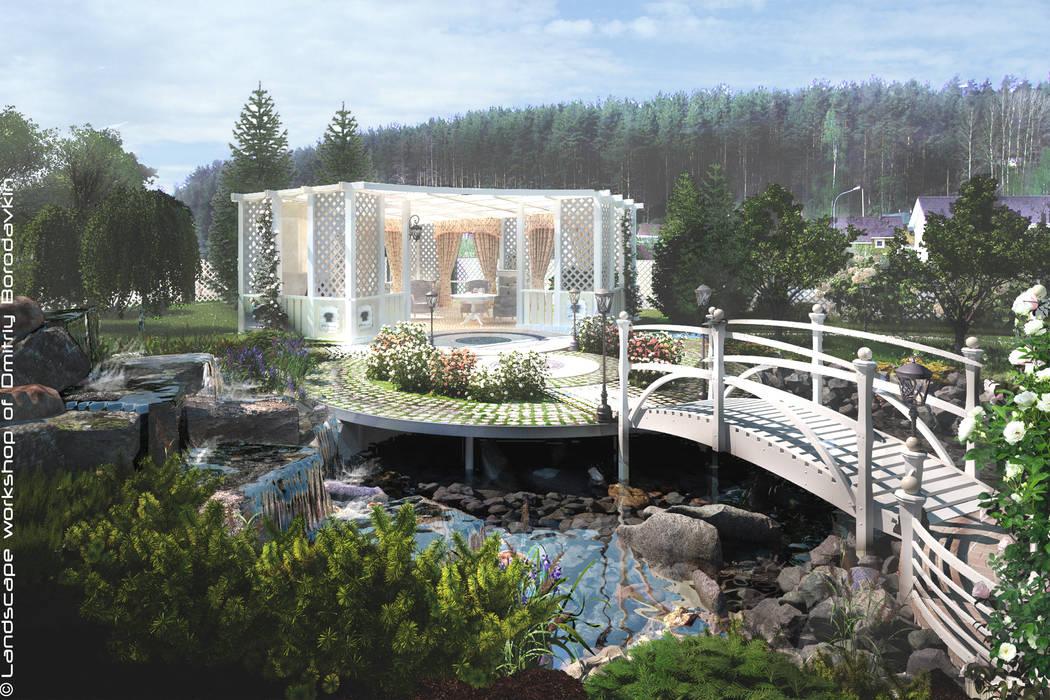 Jardines de estilo  por Мастерская ландшафта Дмитрия Бородавкина, Mediterráneo Madera Acabado en madera