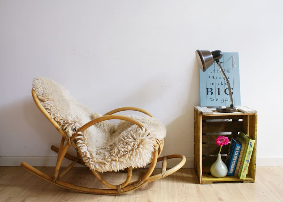 rustic  by homify, Rustic Rattan/Wicker Turquoise