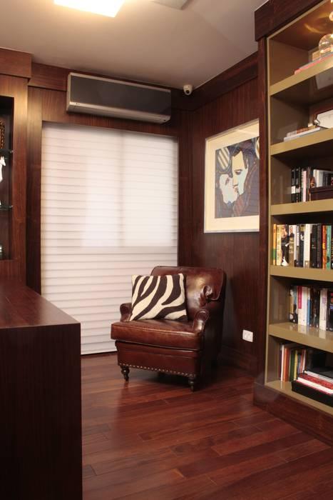 Ruang Studi/Kantor Modern Oleh Fernanda Moreira - DESIGN DE INTERIORES Modern Kulit Grey
