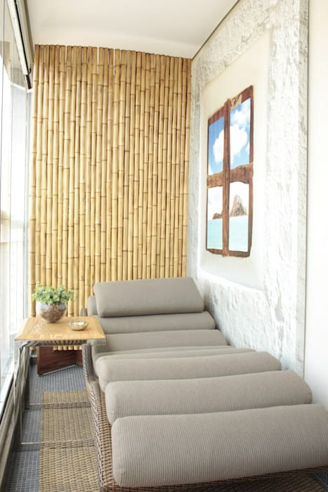 Balcon, Veranda & Terrasse modernes par Fernanda Moreira - DESIGN DE INTERIORES Moderne Bambou Vert