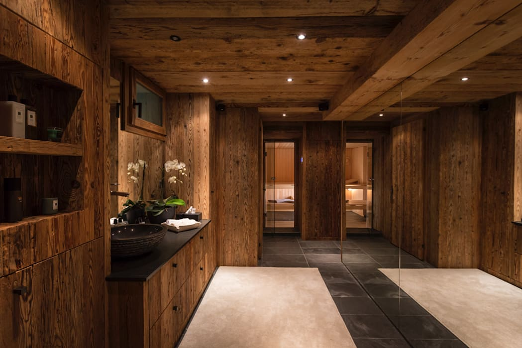 Fitnessbereich M Sauna Und Pool Rustikaler Spa Von Rh
